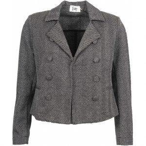 Isay Short Blazer Grey/Ivory