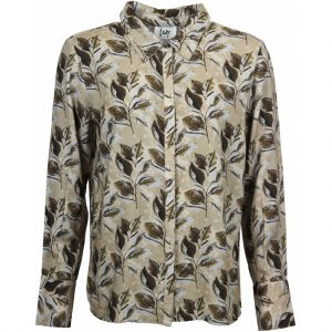 Isay leaf print shirt
