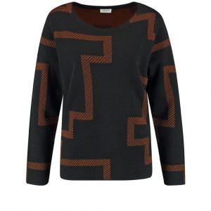 Gerry Weber Graphic Pattern Wool Mix Jumper