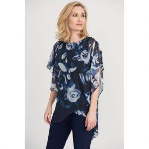 Joseph Ribkoff Floral print Layered top