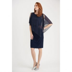 Joseph Ribkoff Chiffon Cape Dress